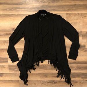 Black Fringe Cardigan Sweater